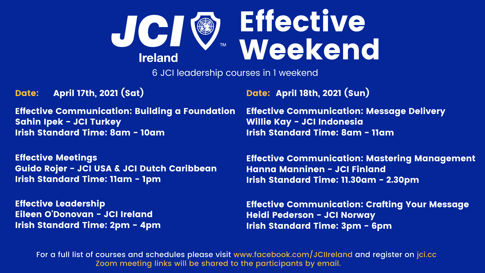 Effective Weekend 2021 - Effective Communication: Mastering Management