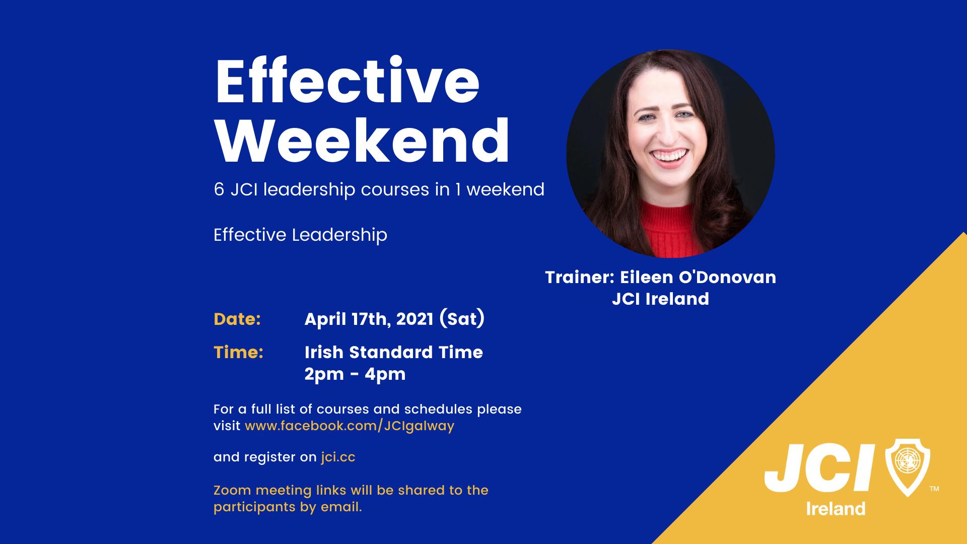 Effective Weekend 2021 - Effective Leadership