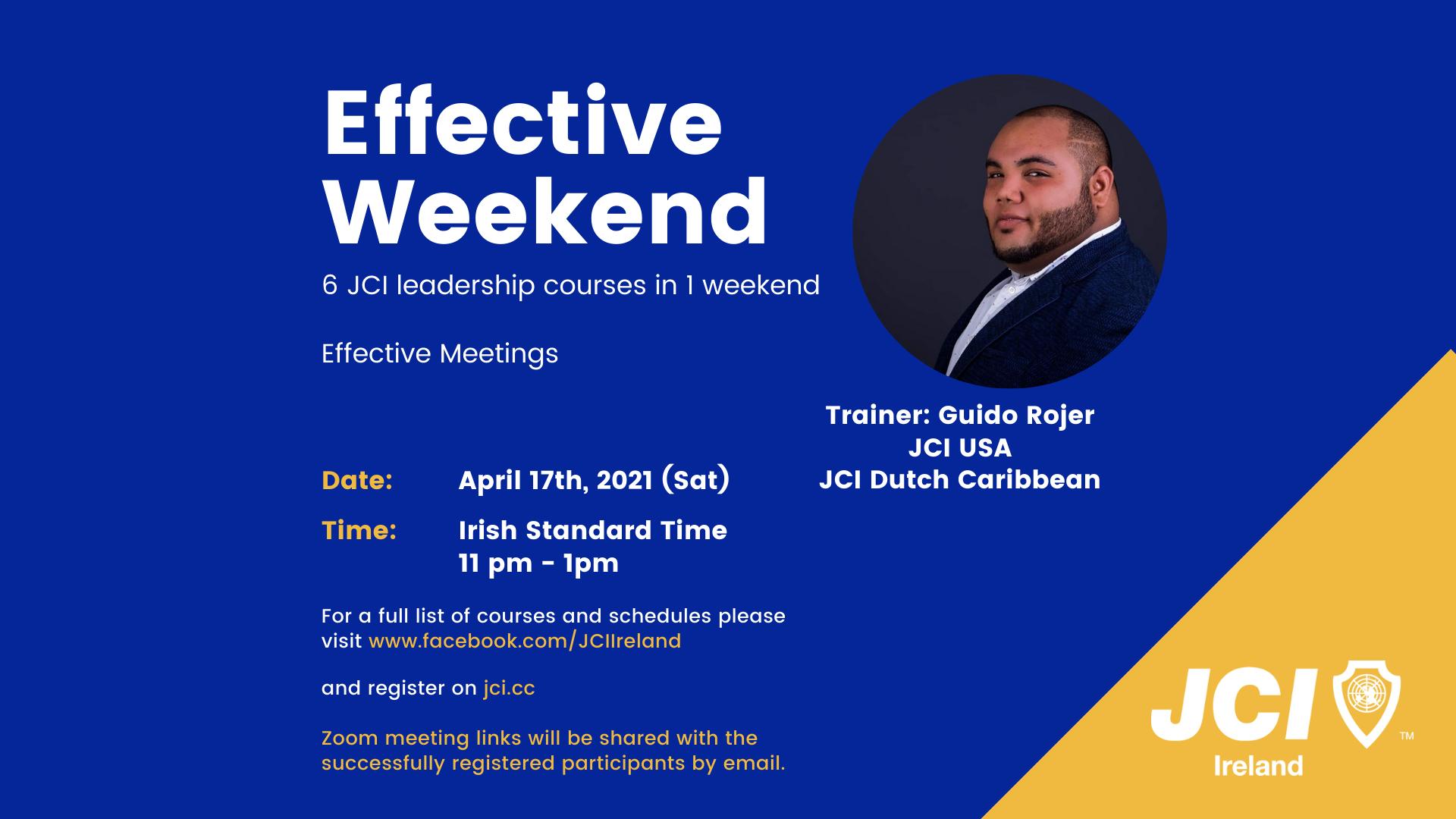 Effective Weekend 2021 - Effective Meetings