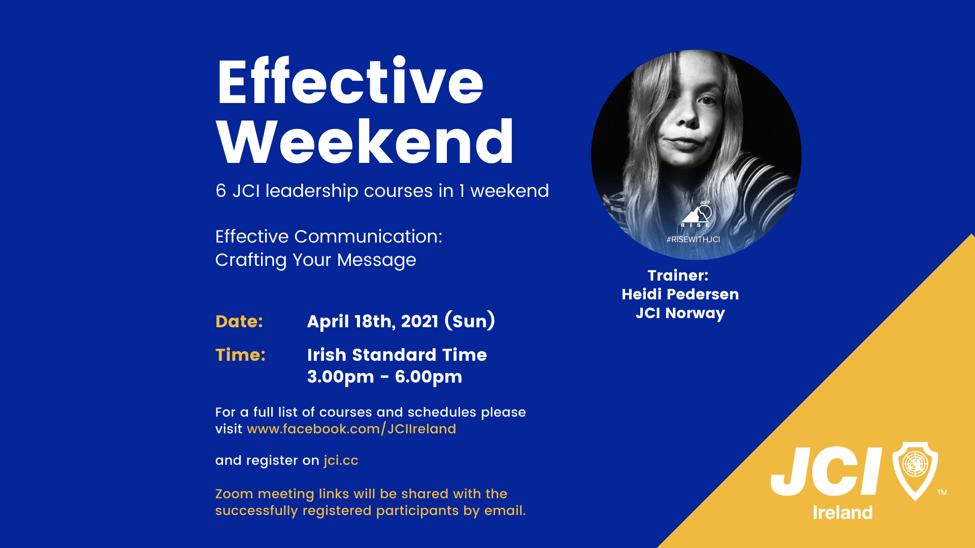 Effective Weekend 2021 - Effective Communication:Crafting Your Message