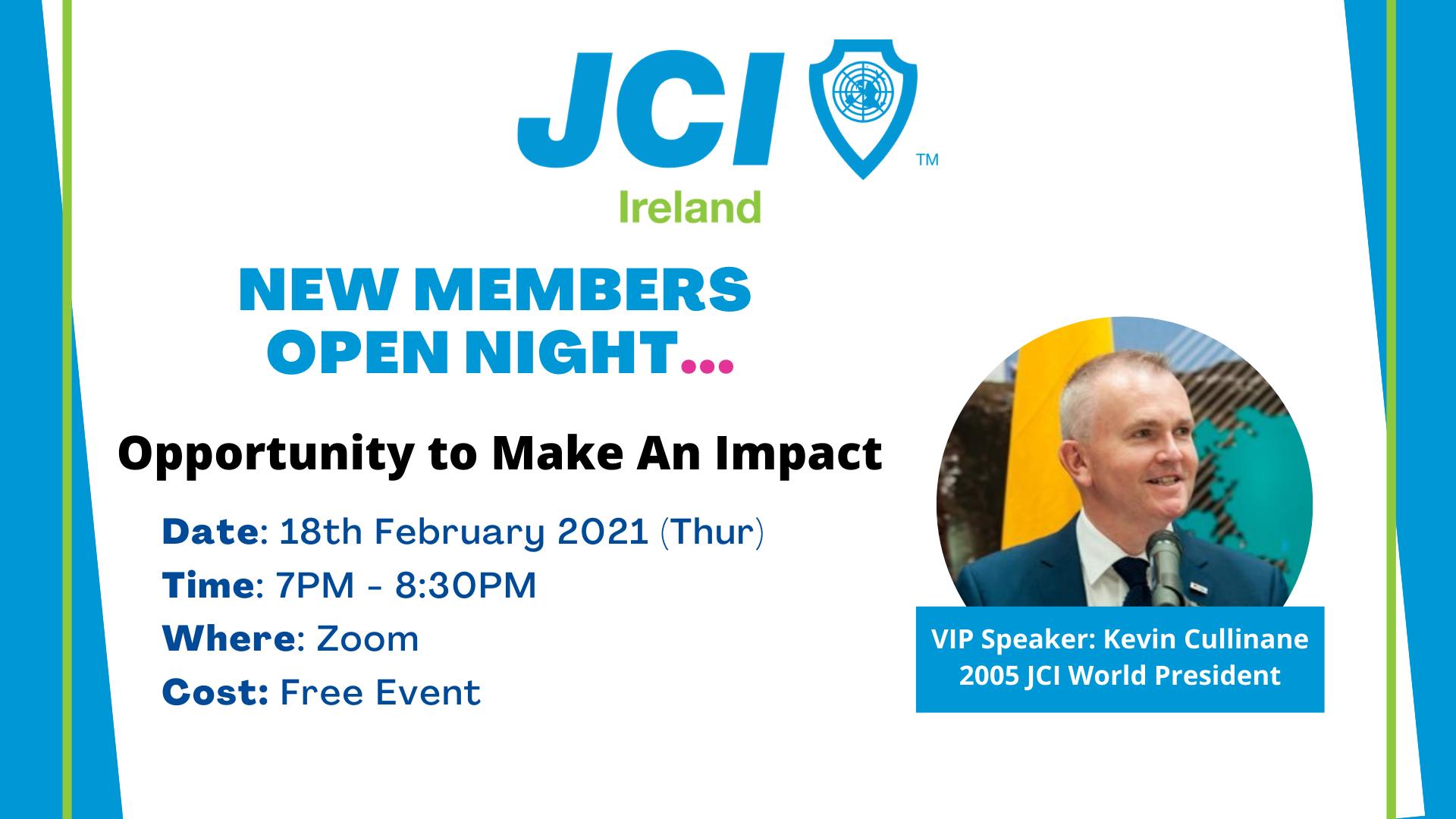 JCI Ireland New Members Open Night